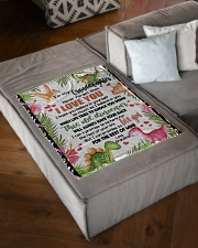 """LOVE YOU - SPECIAL GIFT FOR GRANDDAUGHTER Small Fleece Blanket - 30"""" x 40"""" aos-coral-fleece-blanket-30x40-lifestyle-front-03"""