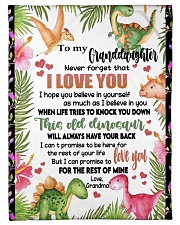 """LOVE YOU - SPECIAL GIFT FOR GRANDDAUGHTER Small Fleece Blanket - 30"""" x 40"""" front"""