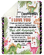 """LOVE YOU - SPECIAL GIFT FOR GRANDDAUGHTER Large Sherpa Fleece Blanket - 60"""" x 80"""" thumbnail"""