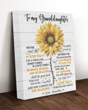 MY SUNSHINE - GRANDDAUGHTER GIFT WITH SUNFLOWER 11x14 Gallery Wrapped Canvas Prints aos-canvas-pgw-11x14-lifestyle-front-17