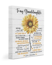 MY SUNSHINE - GRANDDAUGHTER GIFT WITH SUNFLOWER 11x14 Gallery Wrapped Canvas Prints front