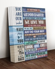 WE LOVE YOU - AWESOME GIFT FOR GRANDDAUGHTER 11x14 Gallery Wrapped Canvas Prints aos-canvas-pgw-11x14-lifestyle-front-17