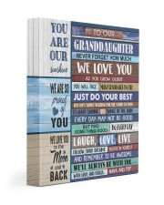 WE LOVE YOU - AWESOME GIFT FOR GRANDDAUGHTER 11x14 Gallery Wrapped Canvas Prints front
