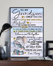 I LOVE YOU - BEST GIFT FOR GRANDSON 11x17 Poster lifestyle-poster-2