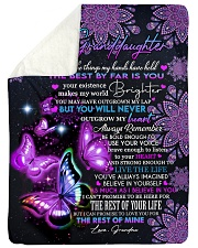 """I BELIEVE IN YOU - PERFECT GIFT FOR GRANDDAUGHTER Large Sherpa Fleece Blanket - 60"""" x 80"""" thumbnail"""