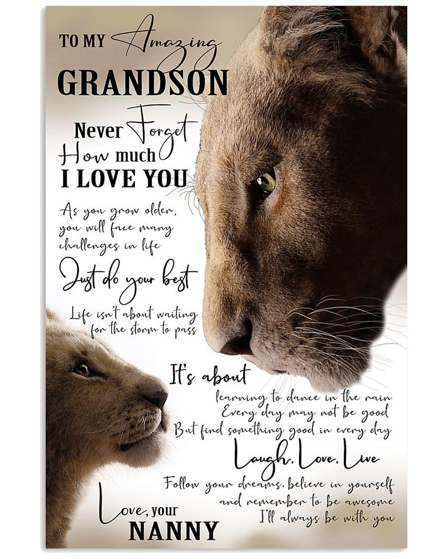 I LOVE YOU - NANNY TO GRANDSON 11x17 Poster