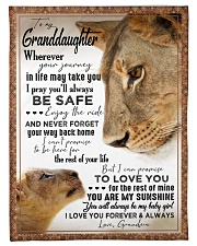 """YOU ARE MY SUNSHINE - BEST GIFT FOR GRANDDAUGHTER Small Fleece Blanket - 30"""" x 40"""" front"""