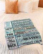 "A BIG HUG - TO GRANDSON FROM GRANDMA Small Fleece Blanket - 30"" x 40"" aos-coral-fleece-blanket-30x40-lifestyle-front-01"