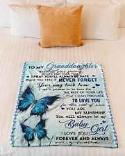 """YOU ARE MY SUNSHINE - BEST GIFT FOR GRANDDAUGHTER Small Fleece Blanket - 30"""" x 40"""" aos-coral-fleece-blanket-30x40-lifestyle-front-04"""
