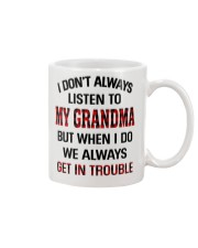 WE ALWAYS GET INTROUBLE - PERFECT GIFT FOR GRANDMA Mug tile