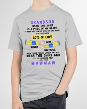 LOTS OF LOVE - PERFECT GIFT FOR GRANDSON Youth T-Shirt garment-youth-tshirt-front-lifestyle-01