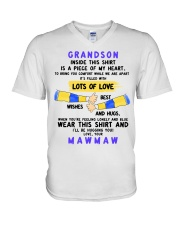 LOTS OF LOVE - PERFECT GIFT FOR GRANDSON V-Neck T-Shirt thumbnail