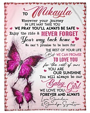 """OUR SUNSHINE-TO MIKAYLA FROM GRANDMA AND GRANDPA Small Fleece Blanket - 30"""" x 40"""" front"""