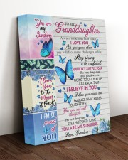 DON'T JUST FLY - GRANDDAUGHTER GIFT WITH BUTTERFLY 11x14 Gallery Wrapped Canvas Prints aos-canvas-pgw-11x14-lifestyle-front-17
