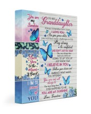 DON'T JUST FLY - GRANDDAUGHTER GIFT WITH BUTTERFLY 11x14 Gallery Wrapped Canvas Prints front