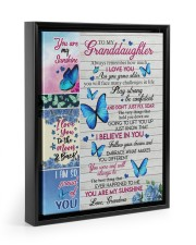 DON'T JUST FLY - GRANDDAUGHTER GIFT WITH BUTTERFLY 11x14 Black Floating Framed Canvas Prints thumbnail