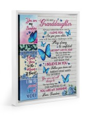 DON'T JUST FLY - GRANDDAUGHTER GIFT WITH BUTTERFLY 11x14 White Floating Framed Canvas Prints thumbnail