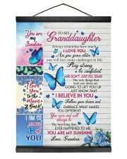 DON'T JUST FLY - GRANDDAUGHTER GIFT WITH BUTTERFLY 12x16 Black Hanging Canvas thumbnail