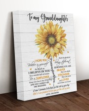 BE A SUNFLOWER - TO GRANDDAUGHTER FROM GRANDMA 11x14 Gallery Wrapped Canvas Prints aos-canvas-pgw-11x14-lifestyle-front-17