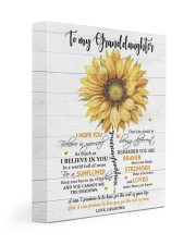 BE A SUNFLOWER - TO GRANDDAUGHTER FROM GRANDMA 11x14 Gallery Wrapped Canvas Prints front