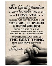 THE BEST THING - BEST GIFT FOR GREAT GRANDSON 11x17 Poster front