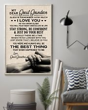 THE BEST THING - BEST GIFT FOR GREAT GRANDSON 11x17 Poster lifestyle-poster-1