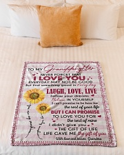 """THE GIFT OF LIFE - GREAT GIFT FOR GRANDDAUGHTER Small Fleece Blanket - 30"""" x 40"""" aos-coral-fleece-blanket-30x40-lifestyle-front-04"""