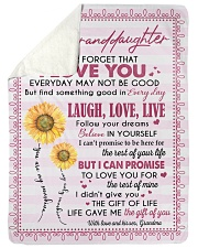 """THE GIFT OF LIFE - GREAT GIFT FOR GRANDDAUGHTER Large Sherpa Fleece Blanket - 60"""" x 80"""" thumbnail"""