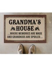 """GRANDMA'S HOUSE Doormat 22.5"""" x 15""""  aos-doormat-22-5x15-lifestyle-front-04"""
