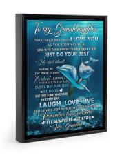 I LOVE YOU - AMAZING GIFT FOR GRANDDAUGHTER Floating Framed Canvas Prints Black tile