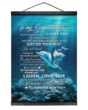 I LOVE YOU - AMAZING GIFT FOR GRANDDAUGHTER Hanging Canvas tile