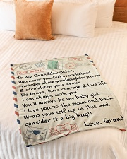 "STRAIGHTEN YOUR CROWN - GRANDMA TO GRANDDAUGHTER Small Fleece Blanket - 30"" x 40"" aos-coral-fleece-blanket-30x40-lifestyle-front-01"