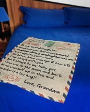 "STRAIGHTEN YOUR CROWN - GRANDMA TO GRANDDAUGHTER Small Fleece Blanket - 30"" x 40"" aos-coral-fleece-blanket-30x40-lifestyle-front-02"