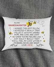 HOPE AND LOVE - BEST GIFT FOR GRANDDAUGHTER Rectangular Pillowcase aos-pillow-rectangle-front-lifestyle-1