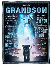 "I LOVE YOU - BEST GIFT FOR GRANDSON Small Fleece Blanket - 30"" x 40"" front"