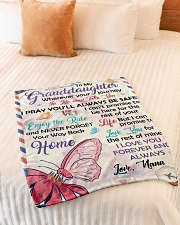 """YOUR WAY BACK HOME - TO GRANDDAUGHTER FROM NANA Small Fleece Blanket - 30"""" x 40"""" aos-coral-fleece-blanket-30x40-lifestyle-front-01"""
