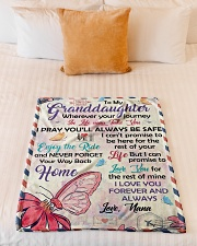 """YOUR WAY BACK HOME - TO GRANDDAUGHTER FROM NANA Small Fleece Blanket - 30"""" x 40"""" aos-coral-fleece-blanket-30x40-lifestyle-front-04"""