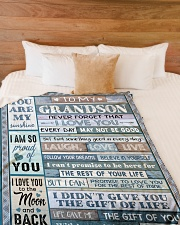 """YOU ARE MY SUNSHINE - BEST GIFT FOR GRANDSON Large Fleece Blanket - 60"""" x 80"""" aos-coral-fleece-blanket-60x80-lifestyle-front-02"""