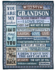 """YOU ARE MY SUNSHINE - BEST GIFT FOR GRANDSON Large Fleece Blanket - 60"""" x 80"""" front"""