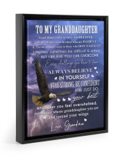 YOU CAN OVERCOME - GREAT GIFT FOR GRANDDAUGHTER  Floating Framed Canvas Prints Black tile