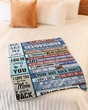 """YOU ARE MY SUNSHINE - GREAT GIFT FOR GRANDDAUGHTER Small Fleece Blanket - 30"""" x 40"""" aos-coral-fleece-blanket-30x40-lifestyle-front-01"""