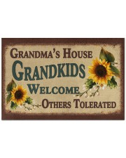 """WELCOME OTHERS TOLERATED -PERFECT GIFT FOR GRANDMA Doormat 22.5"""" x 15""""  front"""