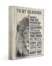 LOVE LIFE - LOVELY GIFT FOR GRANDSON 11x14 Gallery Wrapped Canvas Prints front