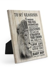 LOVE LIFE - LOVELY GIFT FOR GRANDSON Easel-Back Gallery Wrapped Canvas tile