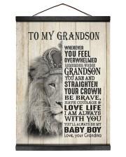 LOVE LIFE - LOVELY GIFT FOR GRANDSON Hanging Canvas tile