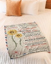 """YOU ARE MY SUNSHINE SPECIAL GIFT FOR GRANDDAUGHTER Small Fleece Blanket - 30"""" x 40"""" aos-coral-fleece-blanket-30x40-lifestyle-front-01"""