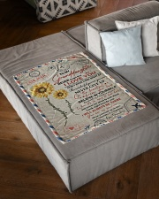 """YOU ARE MY SUNSHINE SPECIAL GIFT FOR GRANDDAUGHTER Small Fleece Blanket - 30"""" x 40"""" aos-coral-fleece-blanket-30x40-lifestyle-front-03"""