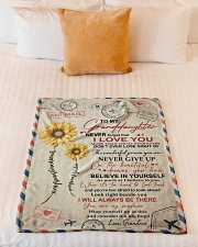 """YOU ARE MY SUNSHINE SPECIAL GIFT FOR GRANDDAUGHTER Small Fleece Blanket - 30"""" x 40"""" aos-coral-fleece-blanket-30x40-lifestyle-front-04"""