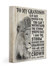 I AM THE STORM - SPECIAL GIFT FOR GRANDSON 11x14 Gallery Wrapped Canvas Prints front