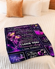 """PROUD OF YOU - LOVELY GIFT FOR GRANDDAUGHTER Small Fleece Blanket - 30"""" x 40"""" aos-coral-fleece-blanket-30x40-lifestyle-front-01"""